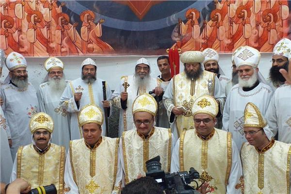 كهنة جدد في قداس عيد الأنبا أبرآم بالفيوم