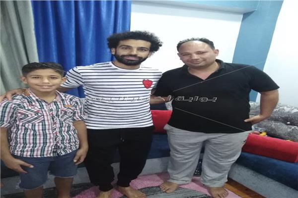 محمد صلاح مع مدربه في نجريج