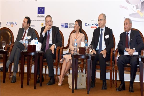 وزيرة الاستثمار والتعاون الدولي تفتتح المؤتمر الاورومتوسطى الخامس