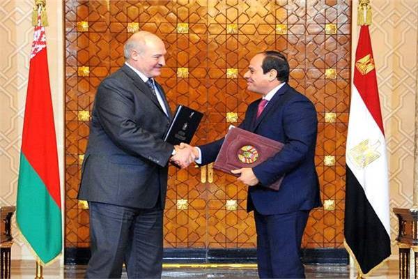 صورة من زيارة الرئيس السيسي إلى بيلاروسيا