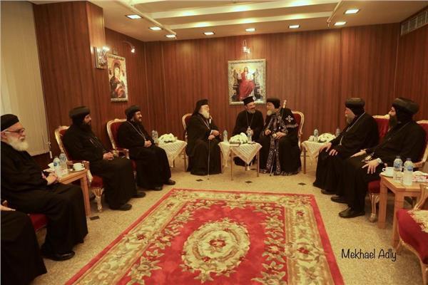 البابا تواضروس يستقبل بطريرك الإسكندريةللروم الأرثوذكس
