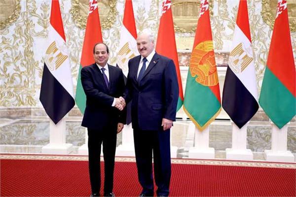 الرئيس عبد الفتاح السيسي والرئيس البيلاروسي ألكسندر لوكاتشينكو
