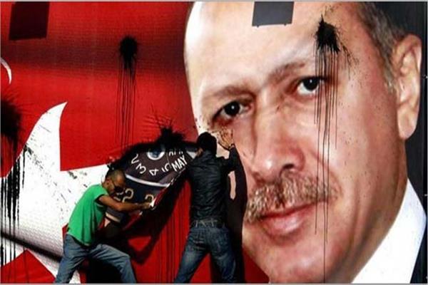 غضب الشعب التركي ضد دعم أردوغان للإرهاب - أرشيفية