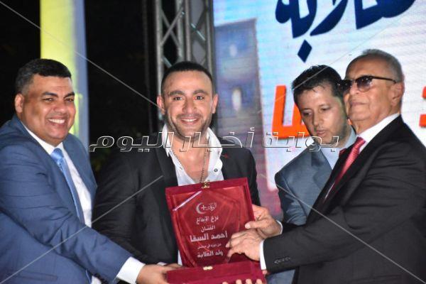 أحمد السقا خلال تكريمه