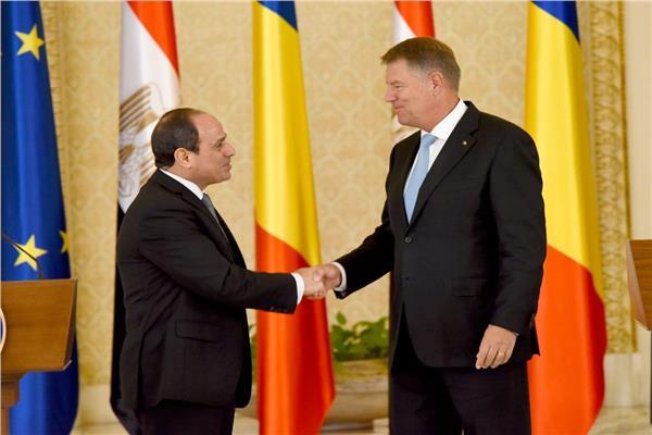 الرئيس عبد الفتاح السيسي خلال زيارته لرومانيا