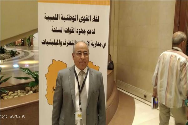 الدكتور مصطفى الزائدي، الأمين العام للحركة الشعبية الوطنية الليبية،