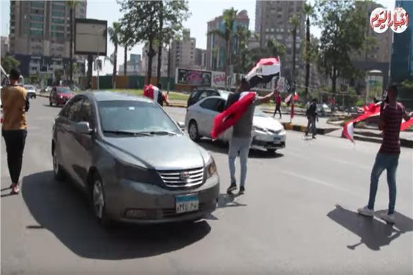 الفرحة تسيطر على الجماهير المصرية قبل مباراة مصر وزيمبابوي