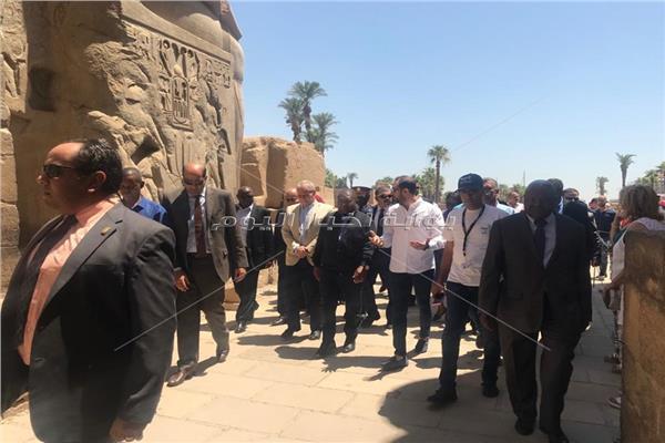 جولة سياحية لـ«رئيس الموزمبيق» بالأقصر