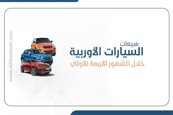 | حجم مبيعات السيارات الأوربية خلال الشهور الأربعة الأولي