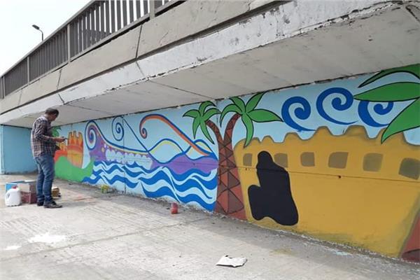 مبادرة لتجميل شوارع وميادين مركز قويسنا بالفنون الجميلة