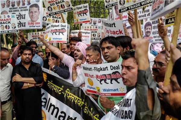 تظاهرات في الهند ضد زيارة وزير الخارجية الأمريكي