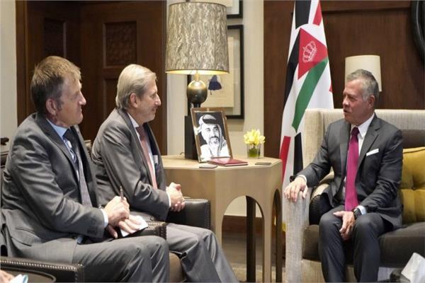 عاهل الأردن يبحث مع مفوض سياسة الجوار الأوروبية التعاون المشترك