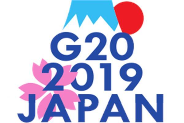 """شعار """"قمة العشرين 2019 اليابان"""
