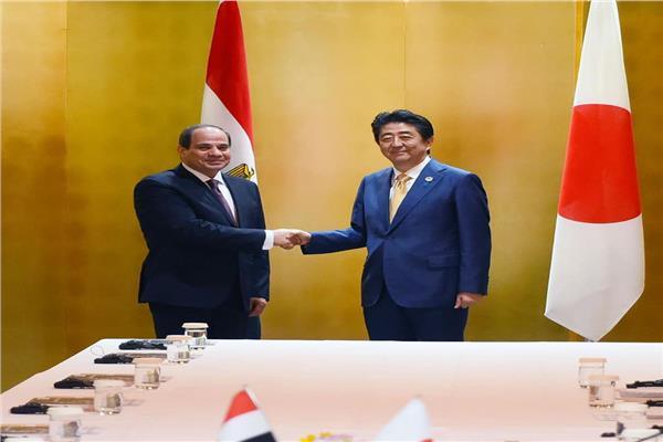 خلال جلسة المباحثات المصرية اليابانية في مدينة أوساكا