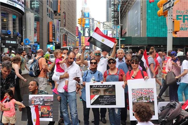 صورة للجالية المصرية بأمريكا