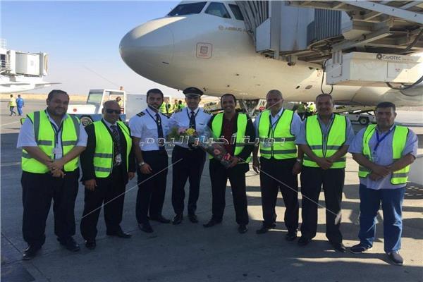 أولي رحلات شركة طيران الإتحاد تصل برج العرب