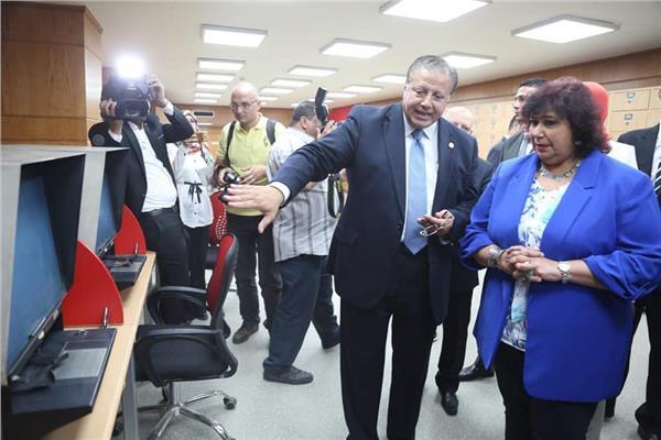 بعد تحديثها.. وزيرة الثقافة تفتتح قاعة الاطلاع الرئيسية بدار الكتب