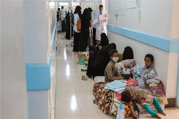 انتشار وباء الكوليرا في اليمن