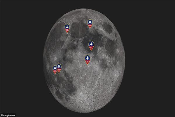 خريطة ثلاثة الأبعاد للقمر