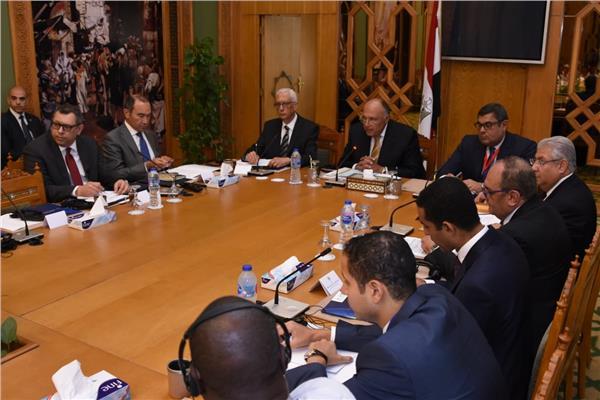 وزير الخارجية يؤكد على اهتمام مصر بدعم جهود التنمية الشاملة في القارة