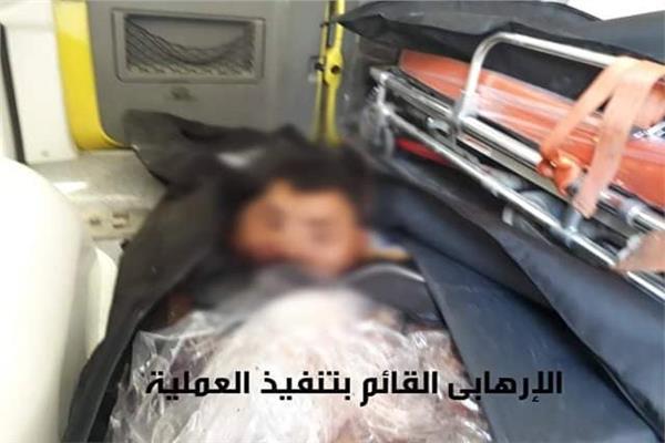الإرهابي بعد فشل محاولته الانتحارية
