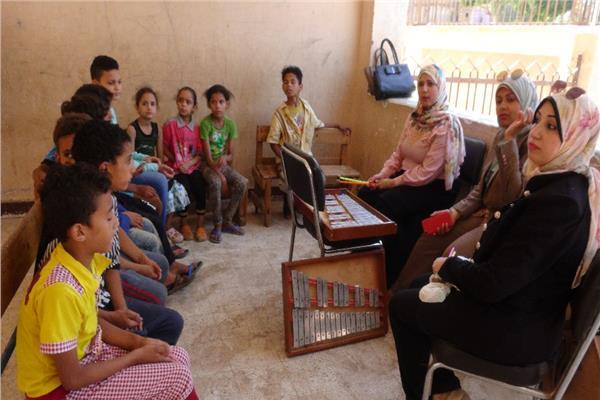 استمرار أعمال قافلة جامعة المنيا لقرية ههيا