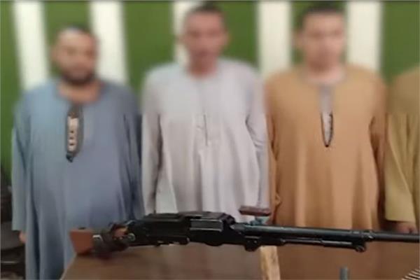 ضبط 4 أشخاص بحوزتهم أسلحة نارية ورشاش جرينوف بأسيوط