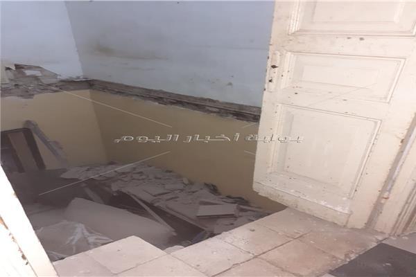 انهيار سقف عقار في الإسكندرية