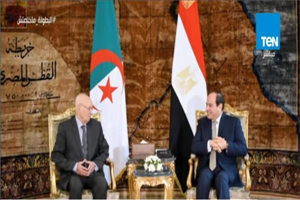 الرئيسان عبد الفتاح السيسي وعبد القادر بن صالح