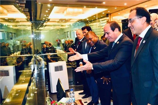 الرئيس السيسي خلال حفل افتتاح بطولة أمم إفريقيا 2019 - أرشيفية