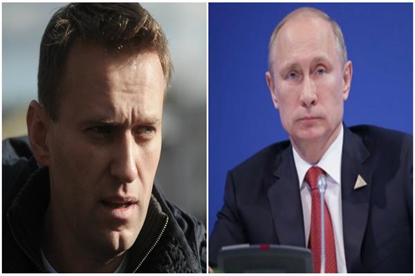 فلاديمير بوتين وأليكسي نافالتي