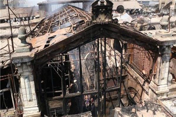 سوق العتبة عقب حريقه
