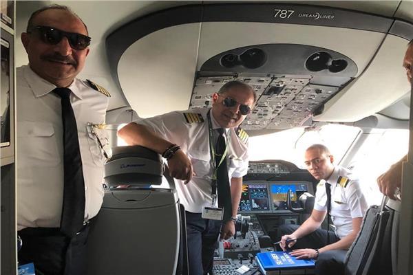 صور |مطارالقاهرة يستقبل أطول رحلة طيران بالوقود الحيوي