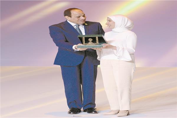 مريم كمال: تكريمي بقرار من الرئيس