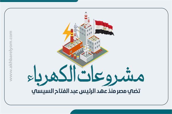بالانفوجراف مشروعات الكهرباء تضي مصر منذ عهد الرئيس عبد الفتاح السيسي