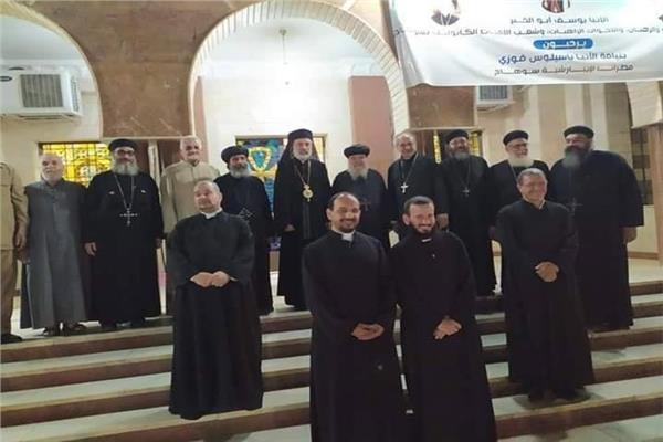 وفد من الكنيسة الأرثوذكسيّة يزور نيافة الأنبا باسيليوس