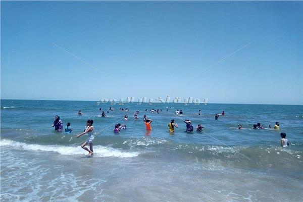 مدينة العريش شهدت الشواطئ  الشعبية