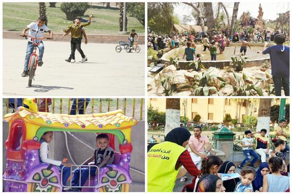 الحدائق والمتنزهات كاملة العدد في العيد