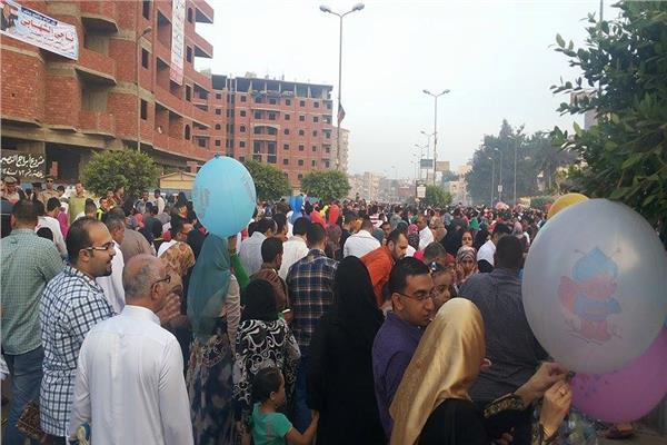 استمرار خروج المواطنين للشوارع والميادين في رابع ايام العيد بالغربية