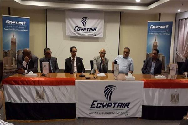 رئيس بعثة مصر للطيران بالمملكة يناقش استعدادات مرحلة عودة الحجاج