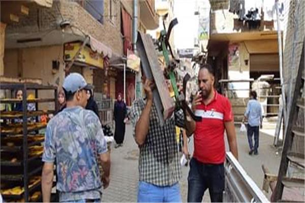 حملة اشغالات مكبرة بنطاق مدينة بشتيل بالجيزة