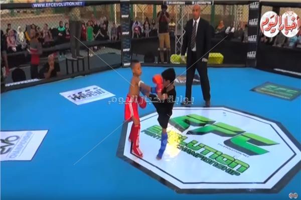 بطولة الايفولوش BLOOD AND SAND لرياضة MMA بالاسكندرية