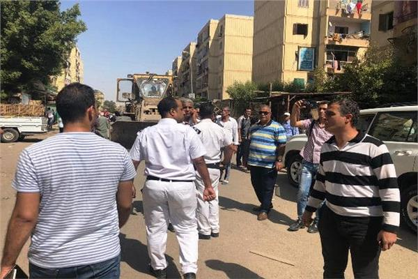 جهاز مدينة القاهرة الجديدة يشُن حملة مكبرة لإزالة التعديات
