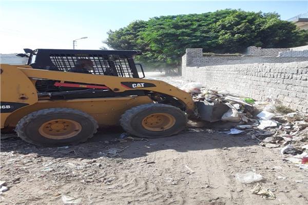رفع 240 طن من القمامة والمخلفات