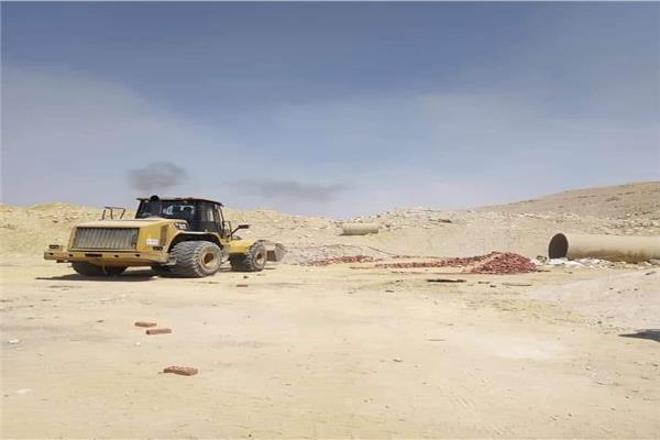 حي المعادي ينجع في إزالة التعديات على املاك الدولة