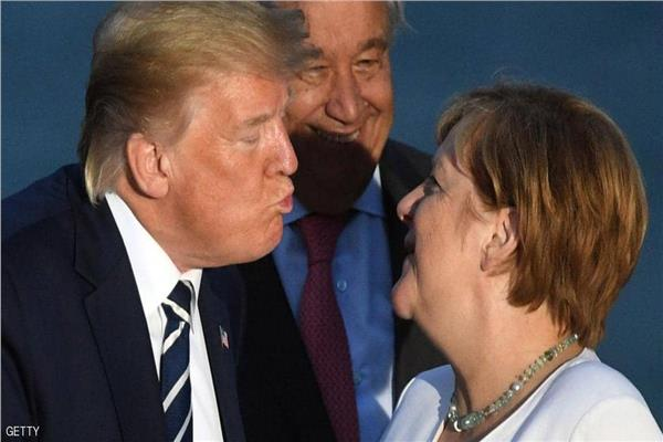 الرئيس ترامب والمستشارة الألمانية أنجيلا ميركل
