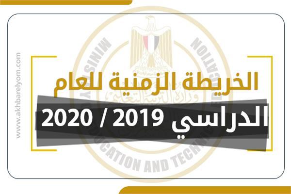 الخريطة الزمنية للعام الدراسي 2019/ 2020