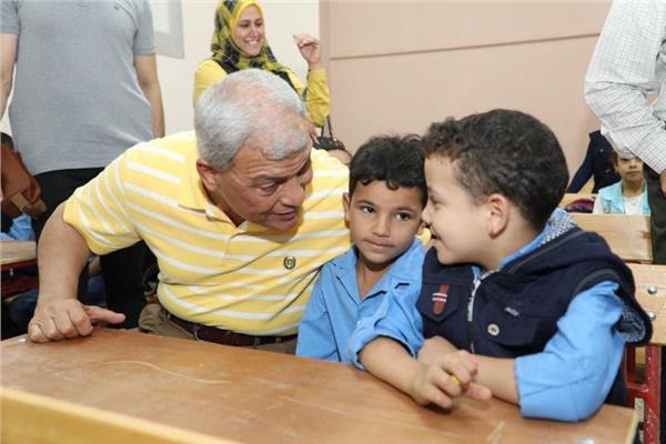 محافظ المنوفية يفتتح مدرسة عبدالله شاهين