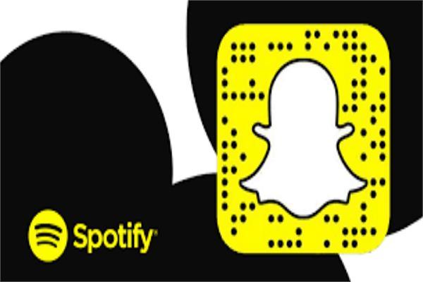 Spotify و  Snapchat