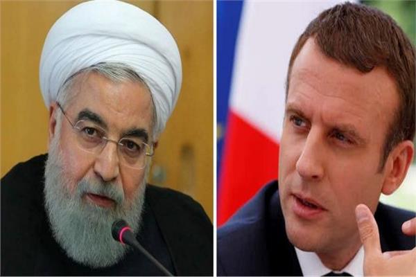 الرئيس الإيراني حسن روحاني، ونظيره الفرنسي إيمانويل ماكرون